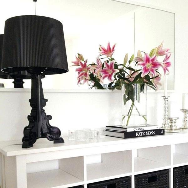 KARTELL-Bourgie-lampada-Design-da-Tavolo-Nero